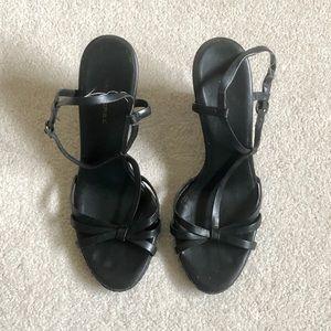 Banana Republic Black Leather Sandals